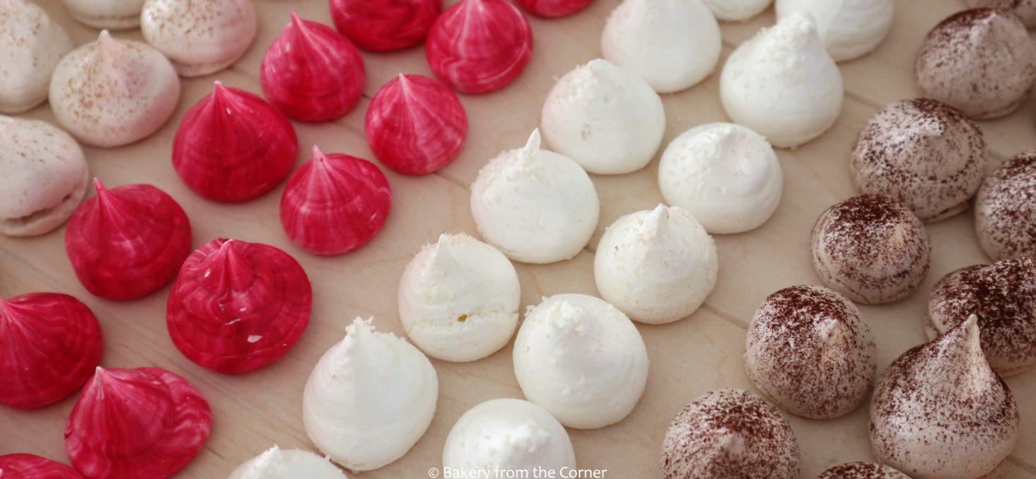 Meringue maken met een smaakje (kaneel, vanille, kokos en cacao)