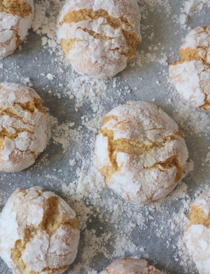 Italiaanse amandel koekjes (Ricciarelli)