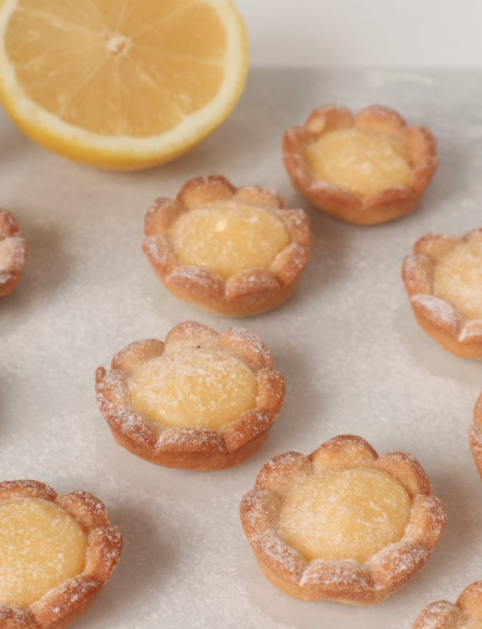 Citroen koekjes in bloemvorm