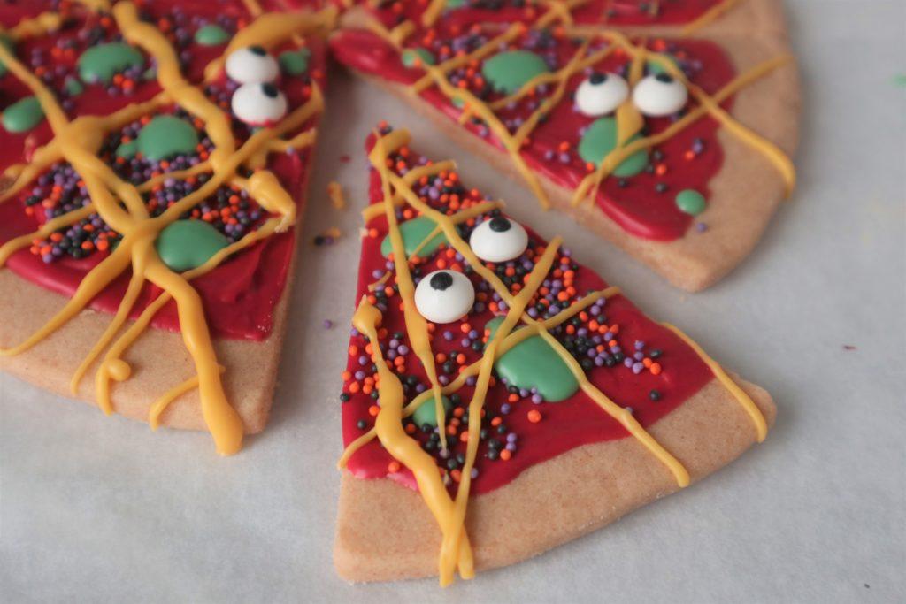 Halloween Pizza Cookie