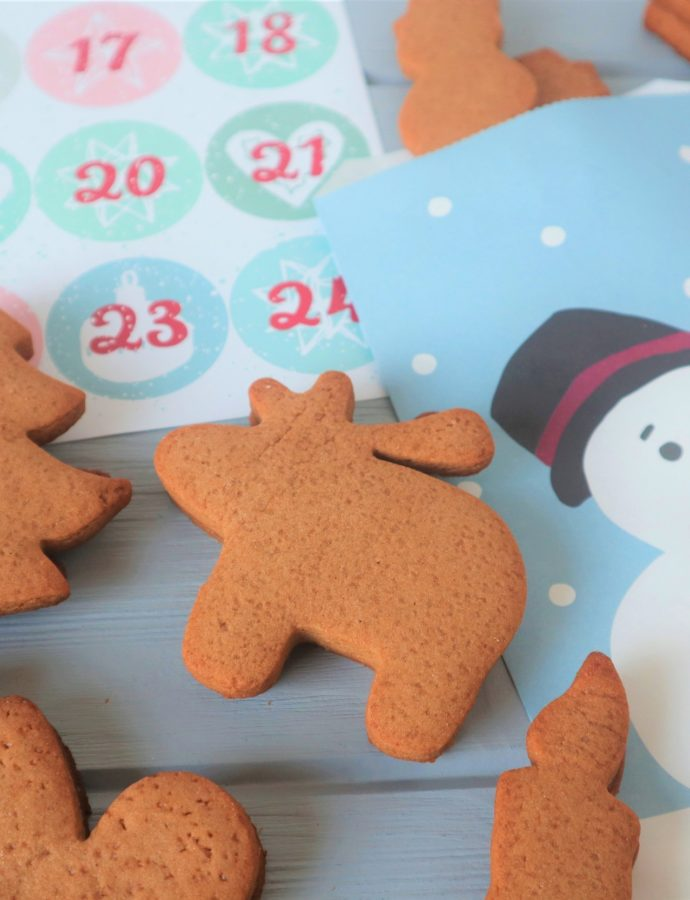 Gingerbread koekjes advent kalender